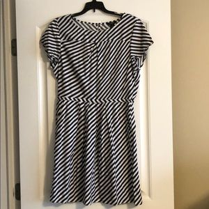 J Crew Factory striped short sleeve dress